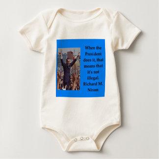 Richard Nixon quote Baby Bodysuit