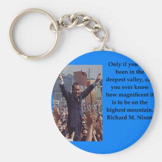 Richard Nixon quote Keychain
