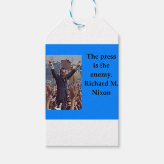 Richard Nixon quote Pack Of Gift Tags