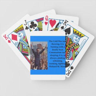 Richard Nixon quote Poker Deck