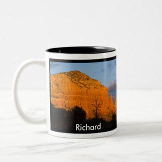 Richard on Moonrise Glowing Red Rock Mug
