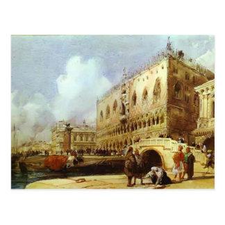 Richard Parkes Bonington-The Doge's Palace, Venice Postcard