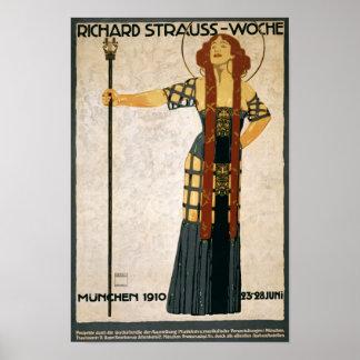 Richard Strauss, Munich, Germany, Opera, Vintage Poster