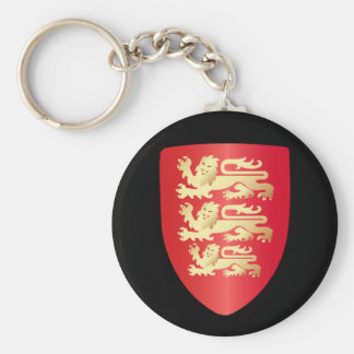 Richard the Lion Heart Shield in red+faux gold Keychain