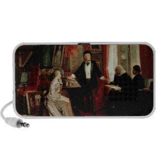 Richard Wagner avec le daught de Franz Liszt et de Haut-parleurs Mobiles