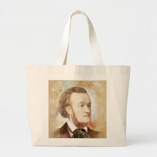 Richard Wagner in the water color style Large Tote Bag