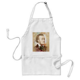 Richard Wagner in the water color style Standard Apron