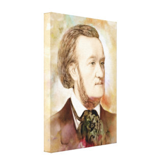 Richard Wagner on Canvas - Watercolor Style