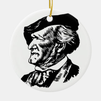 Richard  Wagner Round Ceramic Ornament