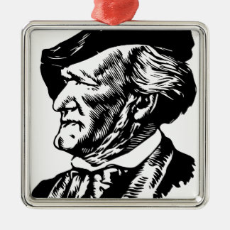 Richard  Wagner Silver-Colored Square Ornament