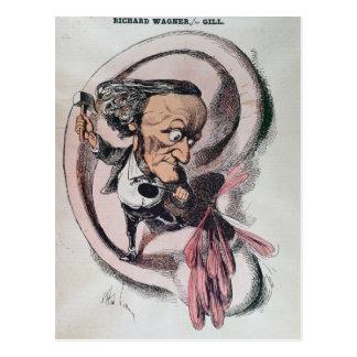 Richard Wagner splitting the ear drum of world Postcard