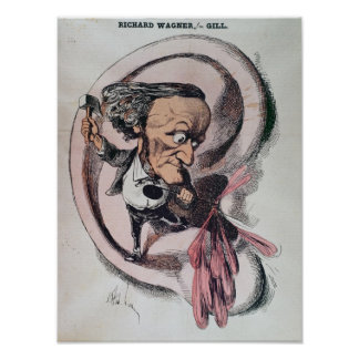 Richard Wagner splitting the ear drum of world Print