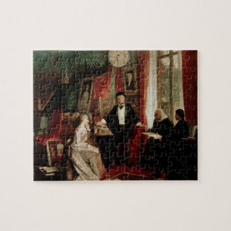 Richard Wagner with Franz Liszt and Liszt's daught Jigsaw Puzzle
