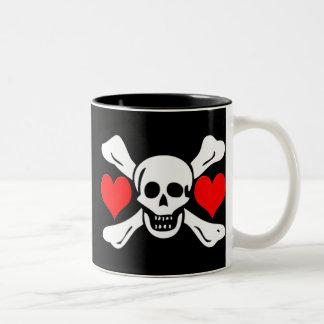 Richard Worley-Hearts Two-Tone Coffee Mug