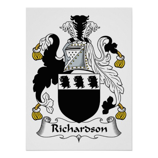 Richardson Family Crest Poster