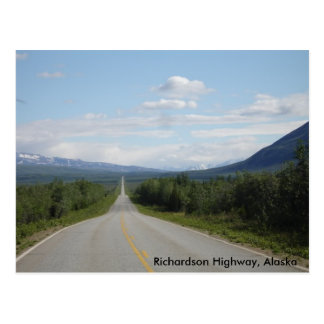 Richardson Highway, Alaska Postcard