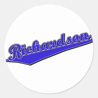 Richardson in Blue Classic Round Sticker