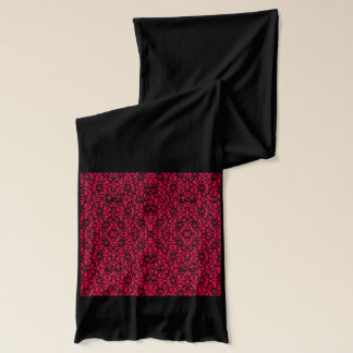 Richer Red and Black Gothic  Lace Scarf