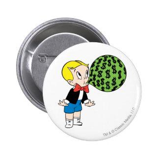Richie Rich Blowing Bubble - Color 2 Inch Round Button