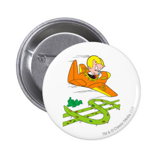 Richie Rich Flying Plane - Color 2 Inch Round Button