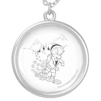 Richie Rich Hiking - B&W Silver Plated Necklace