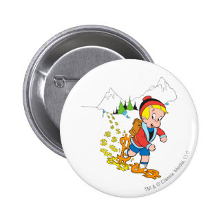 Richie Rich Hiking - Color 2 Inch Round Button
