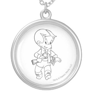 Richie Rich Pockets Full of Money - B&W Silver Plated Necklace