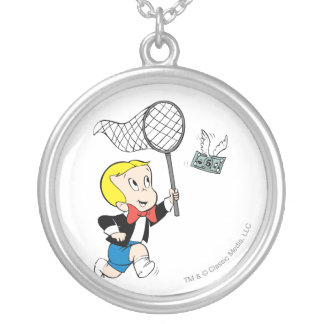 Richie Rich with Net - Color Silver Plated Necklace