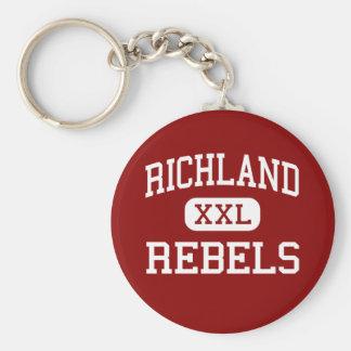 Richland - Rebels - High School - Essex Missouri Keychain