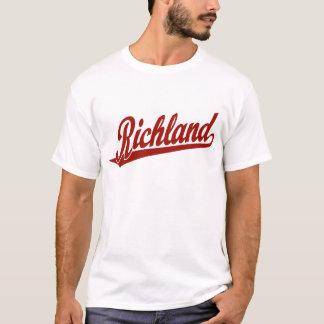 Richland script logo in red T-Shirt