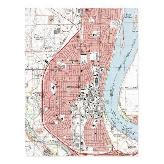 Richland Washington Map (1992) Postcard