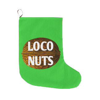 RichLoco LIVE Loco Nuts Christmas Stocking Large Christmas Stocking