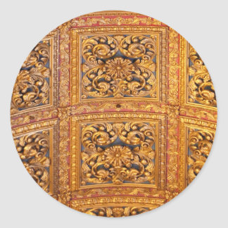 Richly decorated ceiling classic round sticker