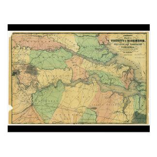 Richmond and Peninsular Campaign in Virginia 1864 Postcard