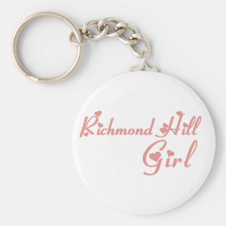 Richmond Girl Basic Round Button Keychain