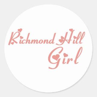 Richmond Girl Classic Round Sticker