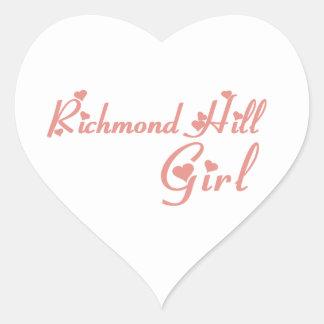 Richmond Girl Heart Sticker