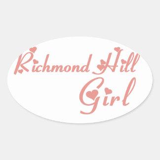 Richmond Girl Oval Sticker