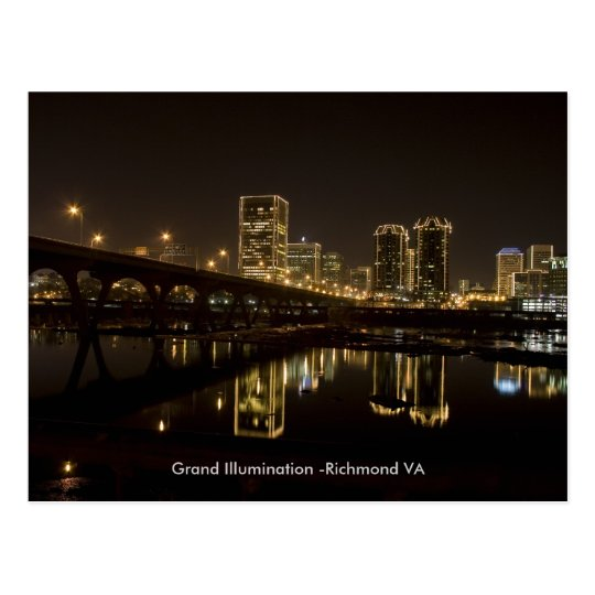 Richmond Grand illumination, . Postcard