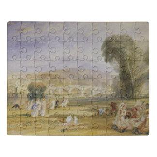 Richmond Hill and Bridge, Surrey Jigsaw Puzzle