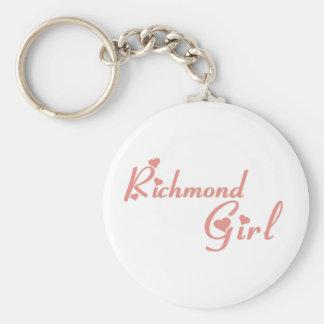 Richmond Hill Girl Basic Round Button Keychain