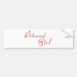 Richmond Hill Girl Bumper Sticker
