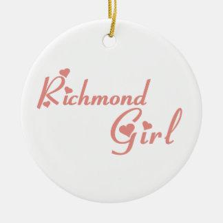 Richmond Hill Girl Ceramic Ornament