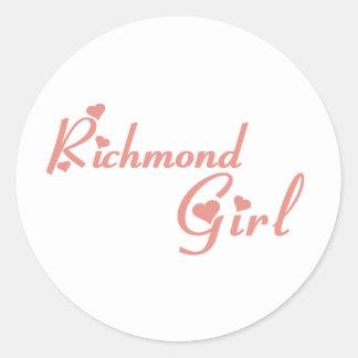 Richmond Hill Girl Classic Round Sticker