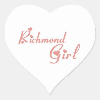 Richmond Hill Girl Heart Sticker