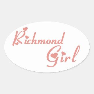 Richmond Hill Girl Oval Sticker