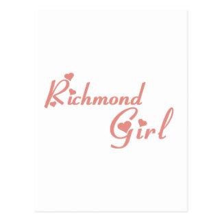 Richmond Hill Girl Postcard