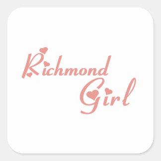 Richmond Hill Girl Square Sticker