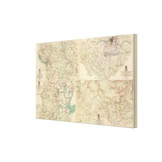 Richmond, Petersburg, Five Forks Canvas Prints