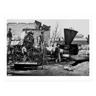 Richmond & Petersburg RR Ruins Richmond VA Postcard